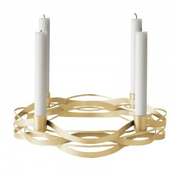 Candelabro Advento - Tangle Advent Dourado Escovado - Stelton STELTON STT10206