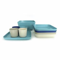 Picnic Set - Go Lagoon, Stone, Royal Blue And White - Biobu