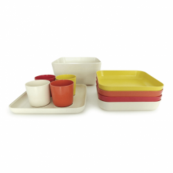 Picnic Set - Go Lemon, Pepper, Persimmon And White - Biobu BIOBU EKB37131