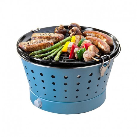 Portable Smokeless Grill - Grillerette Blue - Food & Fun FOOD & FUN FFGRC5024