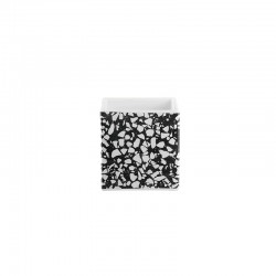 Planter 12cm - Quadro Terrazzo Black And White - Asa Selection