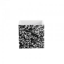 Vaso 15cm - Quadro Terrazzo Branco E Preto - Asa Selection