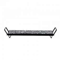 Tray with Metal Frame - Terrazzo Black And White - Asa Selection