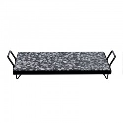 Tray with Metal Frame 30x21cm - Terrazzo Black And White - Asa Selection