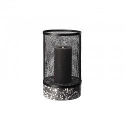 Portavelas con Cubierta de Malla Ø16cm - Terrazzo Blanco Y Negro - Asa Selection