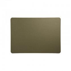 Placemat - Leder Rough Olive - Asa Selection