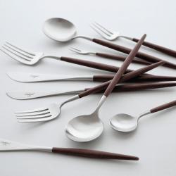 Cutlery Set 24 Pieces Brown – Cutipol Goa - Asa Selection