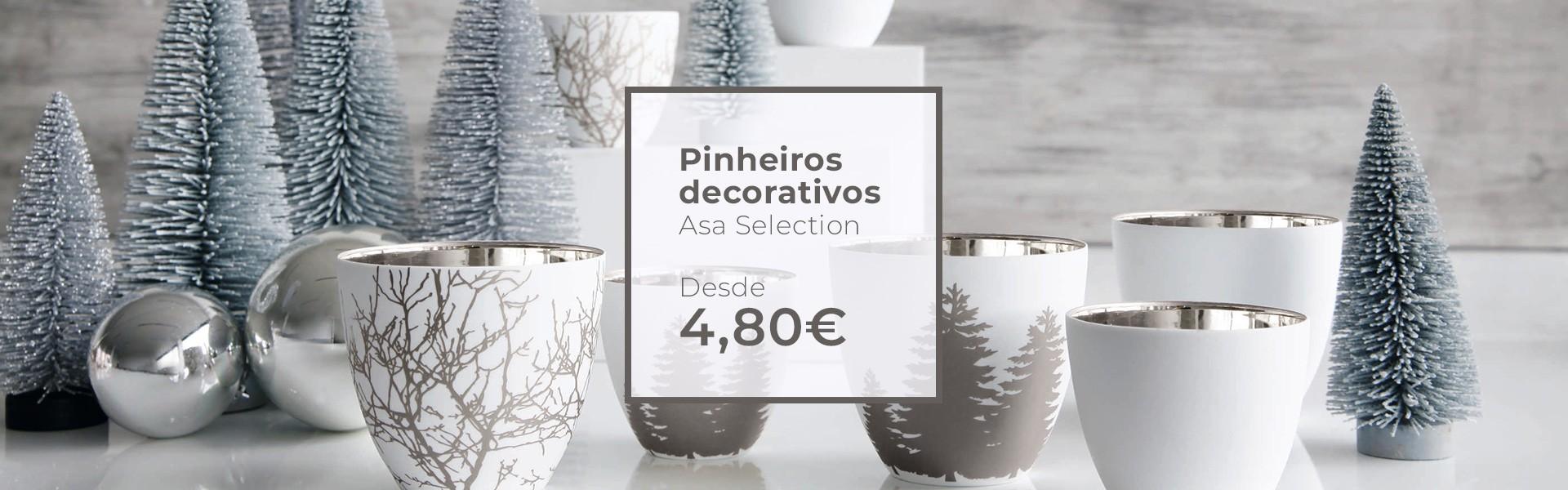 Pinheiros decorativos prata